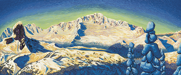 The Tantalus Range by Chili Thom circa summer 2002