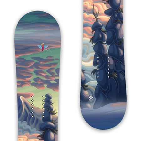"""Mountains In My Mind"" - Any Snowboard from Prior - SMALL"