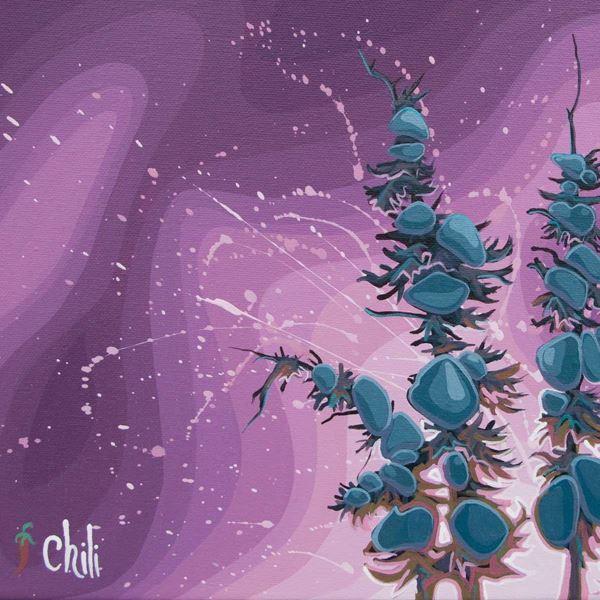 Purple Burst by Chili Thom